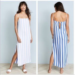 Mara Hoffman Swim white blue stripe midi dress